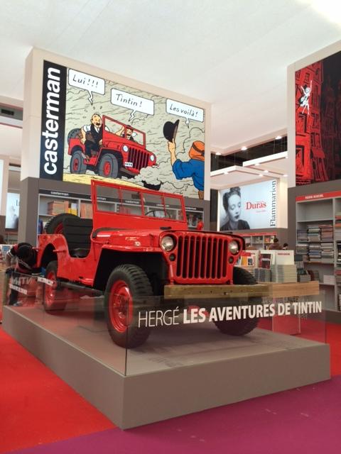 Evénement Tintin au Salon du Livre de Paris !